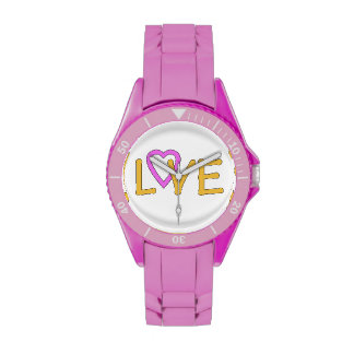 Love in pink and gold on a Pink Watch