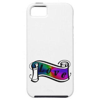 Love in rainbow Fantasy Art - ArtDeco iPhone 5 Cases