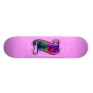 Love in rainbow Fantasy kind - kind Deco Custom Skate Board