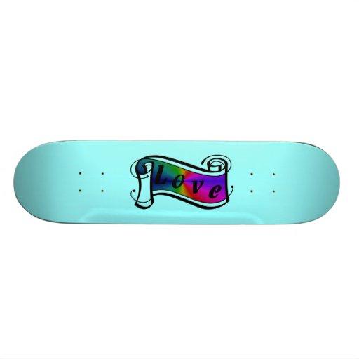 Love in rainbow Fantasy kind - kind Deco Skate Board
