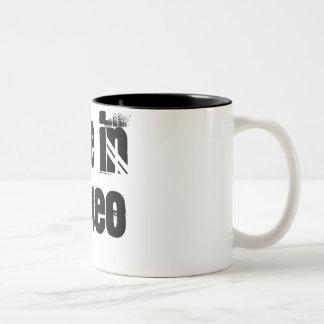 Love In Stereo Two-Tone Coffee Mug