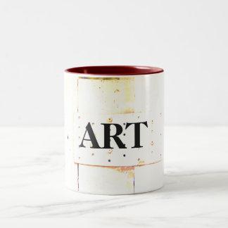 """Love in Summer"" Design by Carole Tomlinson©2016 Two-Tone Coffee Mug"