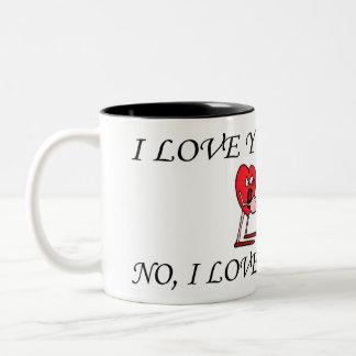 'Love in the air' Black 11 oz Two-Tone Mug