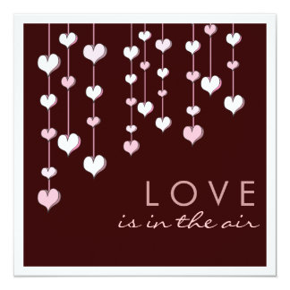 Love in the Air Hearts Engagement Party Invitation