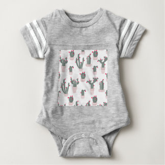 Love in the Desert Cacti Pattern Baby Bodysuit
