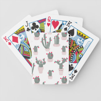 Love in the Desert Cacti Pattern Bicycle Playing Cards