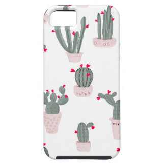 Love in the Desert Cacti Pattern Case For The iPhone 5
