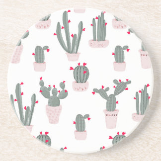 Love in the Desert Cacti Pattern Coaster