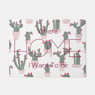 Love in the Desert Cacti Pattern Doormat