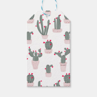 Love in the Desert Cacti Pattern Gift Tags