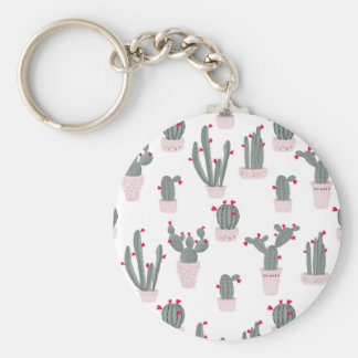 Love in the Desert Cacti Pattern Keychain