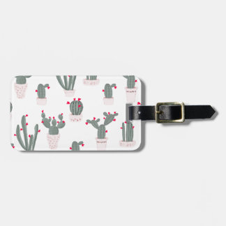 Love in the Desert Cacti Pattern Luggage Tag
