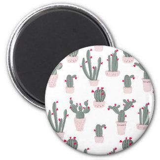 Love in the Desert Cacti Pattern Magnet