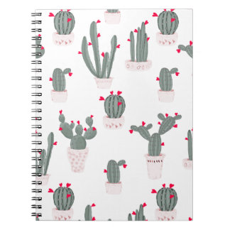 Love in the Desert Cacti Pattern Notebook
