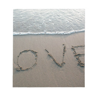 Love In The Sand Notepad