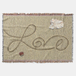 Love in the Sand Throw Blanket by Julie Everhart