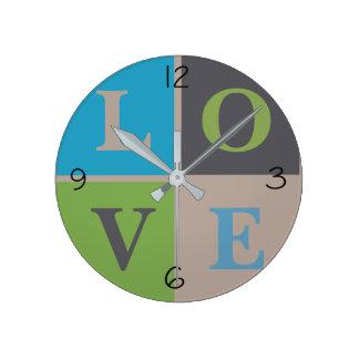 LOVE Infant Nursery Neutral Decor Round Clock