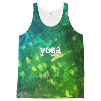 love Inked grunge All-Over-Print Tank Top