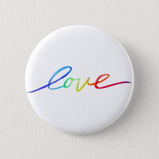 Love Inspirational Rainbow Words Pin Buttons