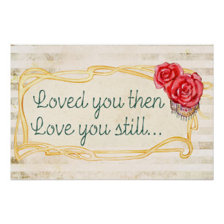Love Inspirational Romantic Quote Perfect Poster