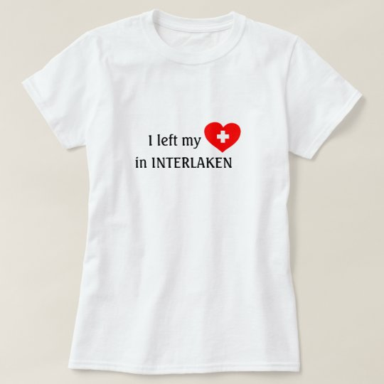 Love Interlaken souvenir t-shirt