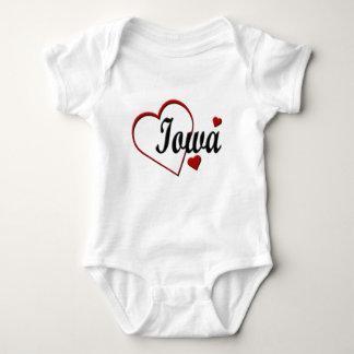 Love Iowa Hearts Infants Creeper