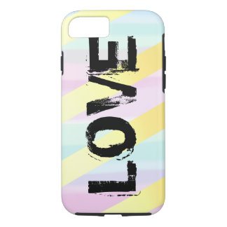 Love iphone case on watercolor