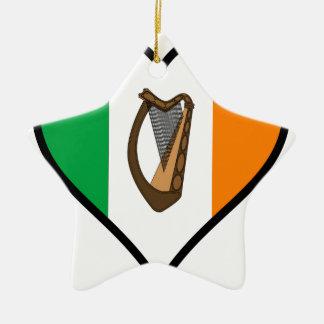 Love Ireland Ceramic Star Ornament
