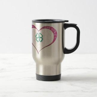 Love irish clover leaf henna travel mug