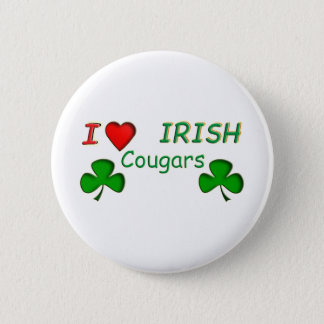 Love Irish Cougar 2 Inch Round Button