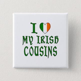 Love irish Cousins 2 Inch Square Button