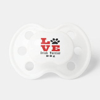 Love Irish Terrier Dog Designes Baby Pacifiers