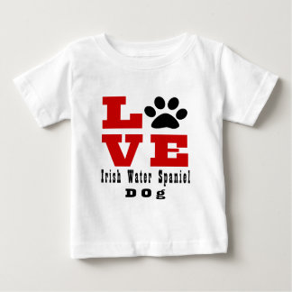 Love Irish Water Spaniel Dog Designes Baby T-Shirt