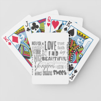 Love is 1 Corithians 13 Bicycle Playing Cards