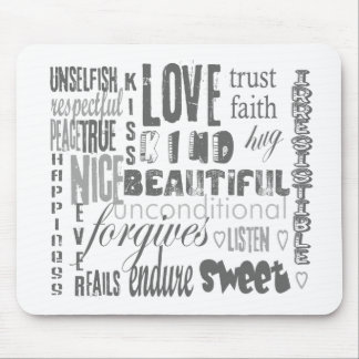 Love is 1 Corithians 13 Mouse Pad