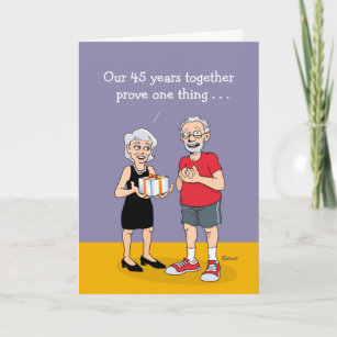 """Love is"" 45th Wedding Anniversary Card"