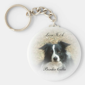 Love is a Border Collie Keychain