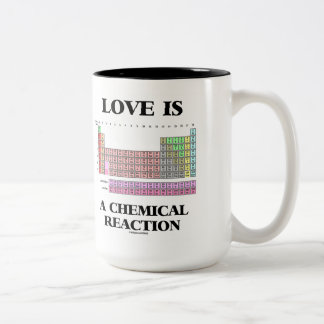Love Is A Chemical Reaction (Periodic Table) Two-Tone Coffee Mug