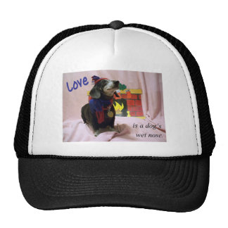 Love is a dog's wet nose trucker hat