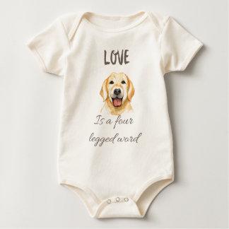 Love is a four legged word baby bodysuit