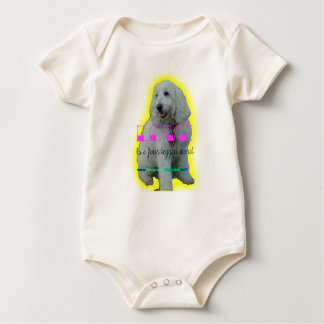 Love is a four legged word baby bodysuit