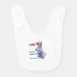 Love is a four legged word bib