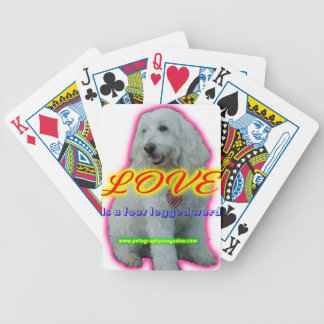 Love is a four legged word bicycle playing cards