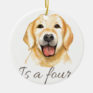 Love is a four legged word ceramic ornament