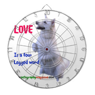 Love is a four legged word dartboard