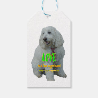Love is a four legged word gift tags