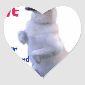 Love is a four legged word heart sticker