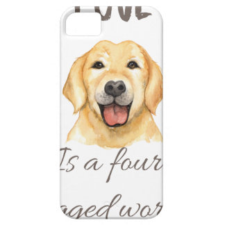 Love is a four legged word iPhone 5 cover