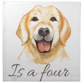 Love is a four legged word napkin