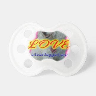 Love is a four legged word pacifier